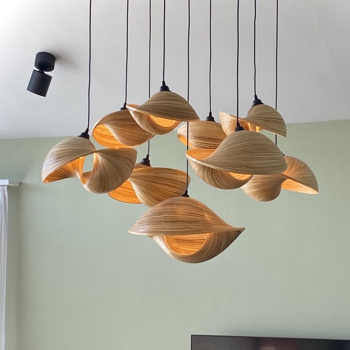 lampadario-di-bambu